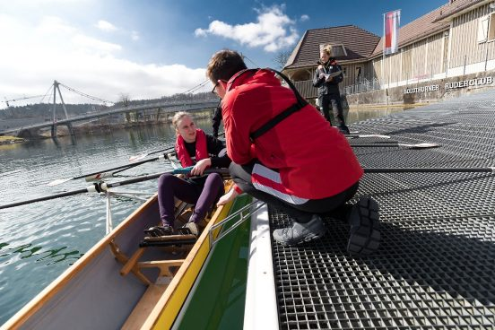 Moniteurs et Coach J+S en Aviron; Photo: OFSPO