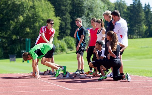 Entraînement de sprint; Photo: OFSPO / Ulrich Känzig